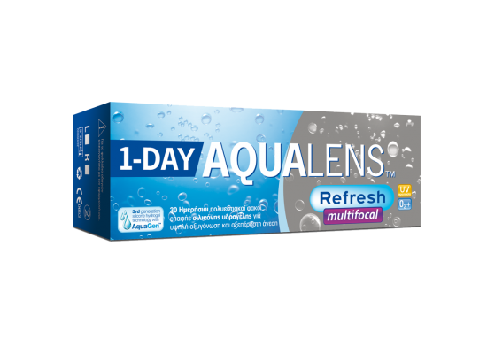 CONTACT LENSES AQUALENS REFRESH ONE DAY MULTIFOCAL