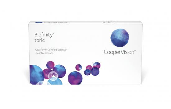 CONTACT LENSES BIOFINITY TORIC MONTHLY 3 PACK