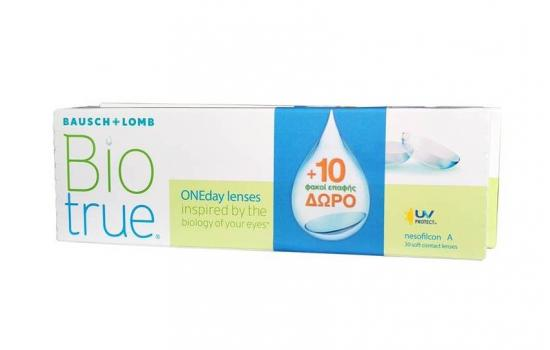 CONTACT LENSES BIOTRUE ONEDAY DAILY 30+10 ΔΩΡΟ (2 BOXES)
